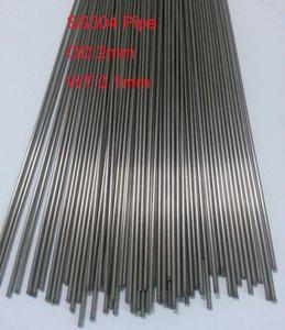 OD: 2 mm, WT: 0.1mm tube capillaire en acier inoxydable petit tube SS304 A propos de 200mm / pc, 70pcs / lot