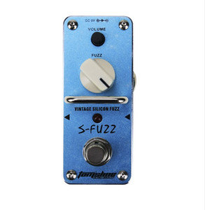 Free shipping AROMA ASF-3 Electric Guitar Effect Pedal S-Fuzz Vintage Silicon Fuzz Mini Single Effect with True Bypass