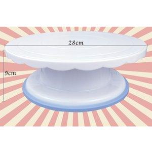 Dekorasyon Platformu Turntable 28cm Yuvarlak Döner Kek Döner Noel Pişirme Aracı Standı Döner Yeni Tasarım Kek Döner Levha