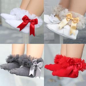 chaussettes roses bébé filles dentelle froufrous Low Cut cheville haut coton Tutu chaussettes mariage baptême chaussettes bébé nouveau-né