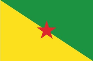 Frankreich Französisch-Guayana Flagge 3 ft x 5 ft Polyester Banner Fliegen 150 * 90cm Kundenspezifische Fahne im Freien