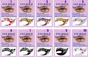 10 tasarımlar Yüz Dantel Göz Farı Sticker Makyaj Artistik Maske Kulübü Parti Kozmetik Yüz Gözler Geçici Dövme Maske