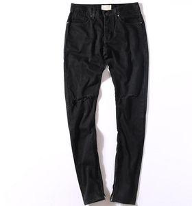 2016 peur de Dieu FOG zips skinny slim fit mens Distressed justin bieber noir coton denim jeans hommes jean