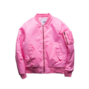 Оптово Unisex Bomber Jacket Женщины 2016 Весна Осень Зима Летчики Верхняя одежда Hip Hop Костюм Зимний Windbreak Розовый Черный Зеленый G165