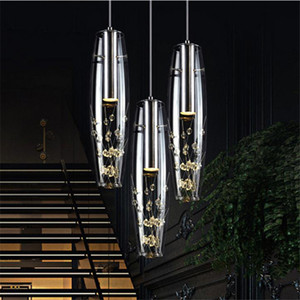 новая творческая личность ресторан светодиодные лампы хрустальная люстра современный минималистский бар настольная лампа еда подвесной светильник