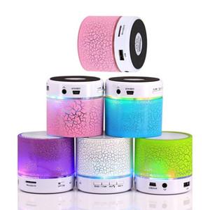 무선 미니 LED 블루투스 스피커 멋진 빛 다채로운 세련 된 휴대용 스테레오 핸즈프리 슈퍼베이스 지원 TF USB FM 라디오 음악 사운드 보