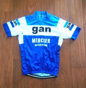 2019 Brand New Team GAN Mercier Maillot de cyclisme respirant maillots de cyclisme Manches courtes été chiffon à séchage rapide VTT Ropa Ciclismo B35