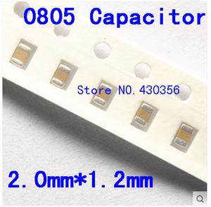 무료 배송 0805 SMD 커패시터 100nf 0.1uf 50V 104M X7R 200pcs