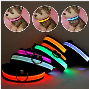 LED Nylon Pet Chien Collier De Nuit Glow Clignotant Chien Chat Collar Led Lumineux Petits Colliers De Chiens USB Rechargeable 10 pcs