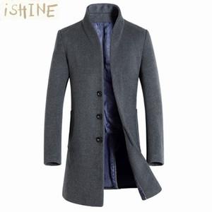 зима шерсть пальто мужчины длинные секции толстые шерстяные пальто мужская повседневная мода куртка casaco masculino palto peacoat пальто