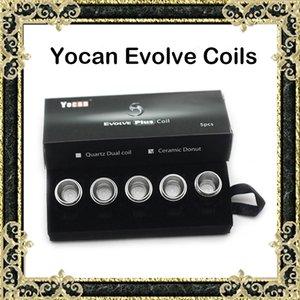 Original yocan evoluir qc evoluir bobina de rosca de cerâmica bobina de substituição para yocan evoluir pandon kits de cera vaporizador vape bobinas