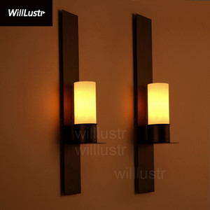 Willlustr Timmeren and Ekster wall sconce Kevin Reilly candle lamp vintage frosted glass light iron wall lighting