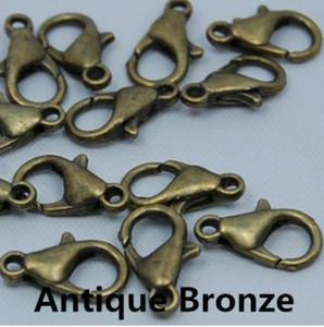 Metal Istakoz Klipsler Kanca Takı Bulma için Altın Gümüş Gun siyah Renk Bağlayın Toka
