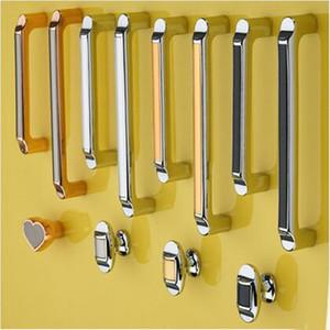 64mm 96mm 128mm 160mm modern simple fashion silver chrome furniture handles black gold kitchen cabinet wardobe drawer knob pull handle