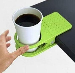 Толстые мусора хранения папки таблицы подстаканник держатель чашки клип стол стекло клип