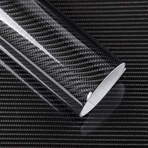 5D Carbon Fiber Vinyl Wrap Film Auto Aufkleber Glossy Motorrad lkw heet Wrap Rolle Wasserdichte Auto Dekoration Zubehör Schwarz 50 * 200 cm