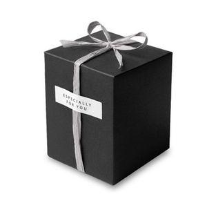 Commercio all'ingrosso Bianco Nero Kraft Paper Gift Box Cosmetici Bottiglia Jar Box Craft Handmade Sapone Candela Scatole di stoccaggio valvolari