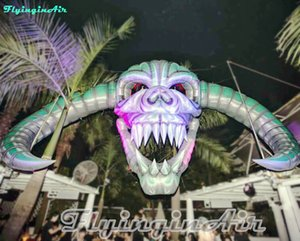 7m Halloween Decorative Skull Inflatable Skull Head for Concert Stage and Party