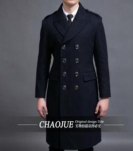 Organice el período de primavera y otoño y el abrigo de lana fina de polvo fino de moda de alta gama de negocios de edición de han / S-6XL