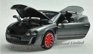 1:32 Ölçekli Metal Döküm Otomobil Modeli Için Bentley Continental Supersports ISR Koleksiyonu SoundLight Ile Araba Geri Çekin - Cabriolet