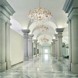 Lampadario di cristallo del palazzo di lusso Fondali della lampadario di cristallo dei fondali del vinile dei colonne della foto dell'interno della foto dello studio di nozze dello studio