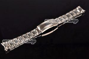 20mm Toptan Yeni Gümüş Orta Lehçe Katı Vida Bağlantıları 316L Paslanmaz Çelik Eğrisi Sonu Watch Band Kayışı Bilezik Kemer