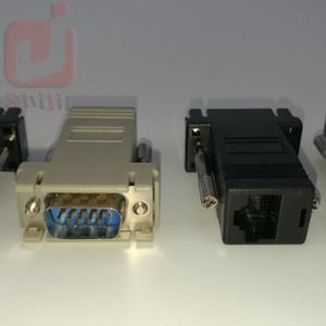 Yüksek Kaliteli Ağ Kablosu Adaptör VGA Extender Erkek için LAN CAT5 CAT5e CAT6 RJ45 dişi 300ps / lot