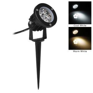Atacado-12V conduziu a luz do jardim 5W IP65 impermeável ao ar livre Iluminação Spot iluminação de inundação Gramado decorativo levou lâmpadas com Spike
