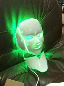 Máscara facial fotodinámica del LED PDT Rejuvenecimiento de la piel Rejuvenecimiento de la cara Mascarilla del cuello del acné Remover LED Mascarilla de belleza 7 colores LED luz