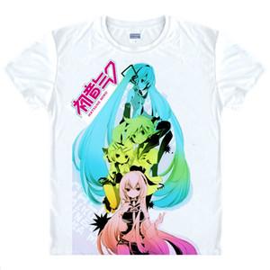 أنيمي قميص ميكو HATSUNE تي شيرت للرجال قصيرة تأثيري Miku تأثيري Miku Hatsune Vocaloid تأثيري زي اليابانية KAWAII المحملة المحملة Style009-1NO02