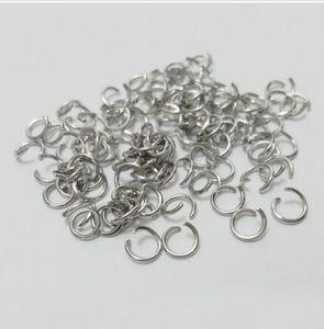 Тусклый серебряный открытый прыжок кольцо Сплит кольца ювелирные изделия поиск для изготовления ювелирных изделий 5 мм