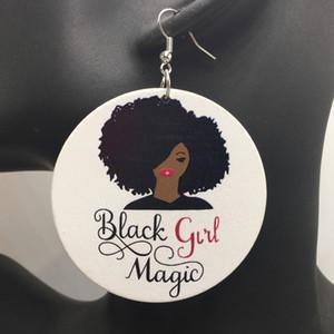 10 пар/лот 2017 черная девушка магия деревянные серьги