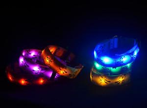 10pcs / lot 6 colores Pluto Fiber LED Flash Collar para mascotas Collar de perro Ultra Flash Correas para mascotas Perro TPU Proveedores