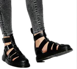 2017 stivali estivi uomo stivaletti in vera pelle fatti a mano scarpe da uomo gladiatore sandali stivaletti fibbia botas