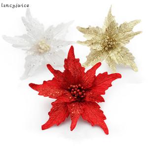 Pteris Weihnachten Künstliche Blume Baum Anhänger Neujahr Weihnachtsschmuck für Zuhause Weihnachtsdekoration Geschenk 24 cm