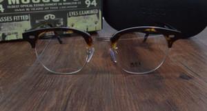 VENTA CALIENTE-2017 Nueva llegada de la marca de la vendimia retro Mos YUKEL johnny depp gafas graduadas ópticas gafas marco de los hombres gafas