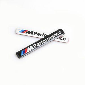 /// M Performance M Power 85x12mm Motorsport 금속 로고 자동차 스티커 BMW E34 E36 E39 E39 E53 E60 E90 F10 F30 M3 용 알루미늄 엠블렘 그릴 배지