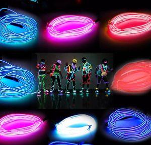 3M 네온 라이트 글로우 와이어 로프 튜브 자동차 자전거 바 댄스 파티 투명