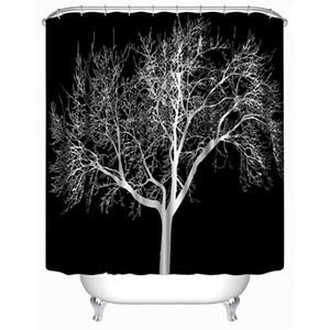 All'ingrosso SenHome 180x180cm ultimo disegno Black Snow Big Tree stampato in poliestere Shower Curtain Bagno cortina di vendita caldi