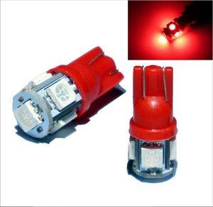 100X T10 194 168 W5W 360 degrés Wedge 5050 5 Ampoule LED SMD BLANC XENON voiture Feu arrière latéral de vente étanche à chaud