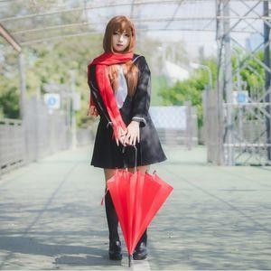 Trajes de Tateyama Ayano cosplay Traje de marinero Anime japonés Mekaku Actores de la ciudad de disfraces de disfraces / Carnaval