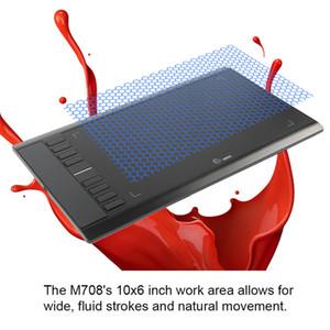 Ugee M708 Digital Tablet اللوحي الرسومات للرسم مع الرسم الرقمي القلم القلم الرقمي 2048 المستوى مع قفاز