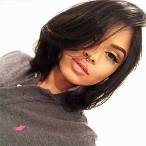 أعلى جودة أزياء قصيرة الباروكات مستقيم حلاقة الشعر الأسود بوب كانيكالون المرأة الأفريقية الأمريكية لمة شعر جديد للنساء في الأسهم