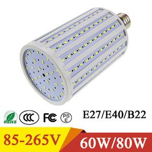 LED 전구 슈퍼 밝은 LED 옥수수 빛 60W 80W 5730SMD E27 E40 B22 옥수수 전구 램프 펜던트 조명 샹들리에 천장 스포트 라이트