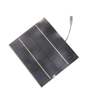 BUHESHUI 6W 18V Mono Solar Panel +5521 DC Output Solar Cell So Module DIY Solar Charger For 12V Battery High Quality