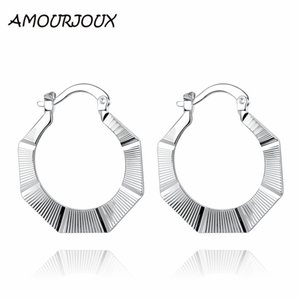 AMOURJOUX new arrivals ear cuff earrings high quality fashion silver plated female clip earrings stud jewelry gift