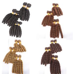 Syntheitc Cheveux Trame Weave Vague Lâche 10 12 14 pouces Cheveux Humains Synthétiques Extensions De Fibre Synthétique 6pcs / set 200g