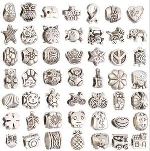 Para joyería haciendo grandes agujeros sueltos espaciador perlas encantos bricolaje artesanía al por mayor joyería barata que hace suministros para los encantos de la pulsera