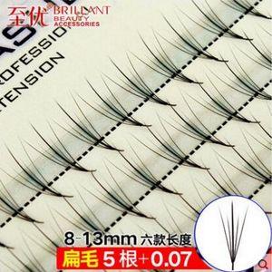 5D + Pteris nubes pelo DIY propias pestañas planta injertada de siembra solo racimo pestañas postizas 8-13mm pelo plano