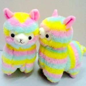 10 * 14cm 귀여운 레인보우 Alpacasso Kawaii 알파카 라마 Arpakasso 소프트 인형 레인보우 Alpacasso 플러시 펜던트 어린이 크리스마스 선물 CCA7554 60pcs